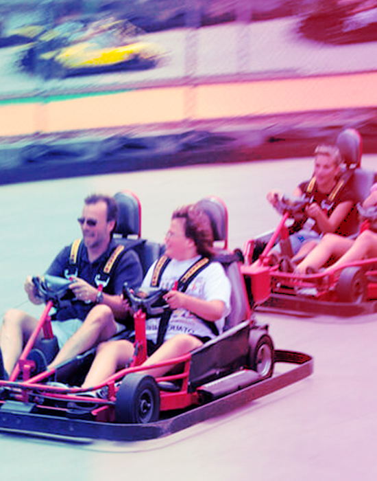 Close to the event hall and space for corporate events in Brevard Florida, you can race your team in fast karts, laser tags and enjoy many other attractions