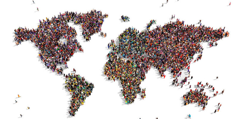 This picture shows people from all the world in a globe like shape. A Multicultural Marketing Consulting Agency can help you target hispanic and international markets.